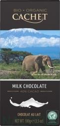 CACHET čokoláda Tanzania Organic mliečna 40% 100g