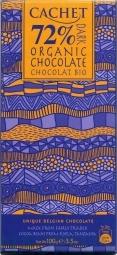 CACHET čokoláda horká BIO ORGANIC 72% 100g