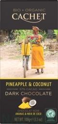 CACHET čokoláda Tanzania Organic horká 57% ananás a kokos 100g