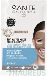 2v1 peelingová maska káva a kokos - 2x4ml