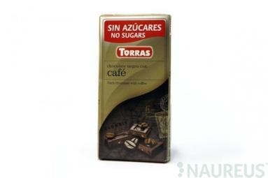 Torras čokoláda DIA horká čok. s kávou 75g