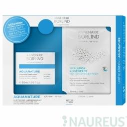 Aquanature System hydro – Vyhladzujúci hydratačný denný krém + Hyalurónové obklady na oči 2ks grátis