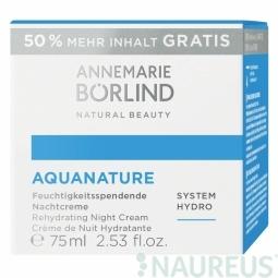Aquanature Hydratačný nočný krém 50 ml +50% zdarma