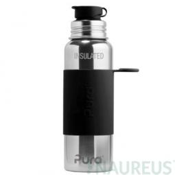 Pura® TERMO fľaša so športovým uzáverom 650ml - Čierna