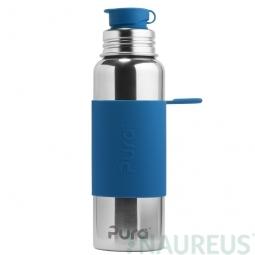 Pura® nerezová fľaša so športovým uzáverom 850ml - Modrá