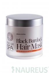 Maska pre podporu rastu vlasov Čierny Lopúch BANIA DETOX
