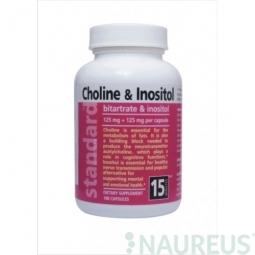 Cholín a Inozitol 125 mg + 125 mg, 100 kapsúl