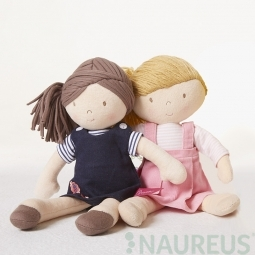 Látková bábika - Ruby (modrá) 31 cm