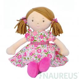 Látková bábika – Fran ružové šaty 41 cm