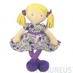 Látková bábika – Peggy fialové šaty 41 cm