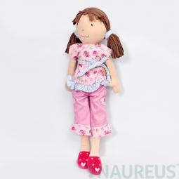 Látková bábika Whitney - ružová súprava 46 cm