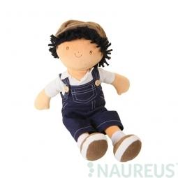 Látková bábika – chlapec Joe modré džínsové nohavice 38 cm