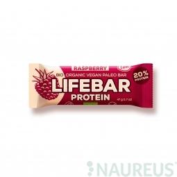 77b9f99fca5a Lifebar proteín malinová BIO 47 g Lifefood