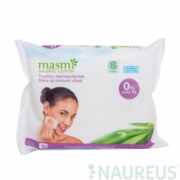 Organické bavlnené make-up odstraňovače obrúsky 20ks MASMA