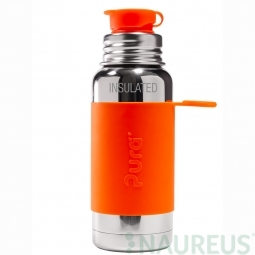 Pura® TERMO fľaša so športovým uzáverom 475ml - Oranžová