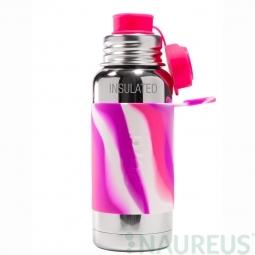 Pura® TERMO fľaša so športovým uzáverom 475ml - Ružovo-biela