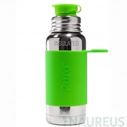 Pura® TERMO fľaša so športovým uzáverom 475ml - Zelená