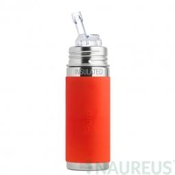 Pura® TERMO fľaša so slamkou 260ml - Oranžová