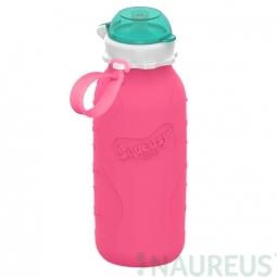 Squeasy Gear silikónová fľaša 480ml - Ružová