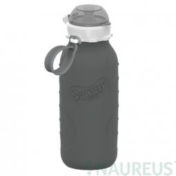 Squeasy Gear silikónová fľaša 480ml - Sivá