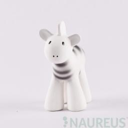 Hrkálka a hryzátko z prírodnej gumy - Zebra