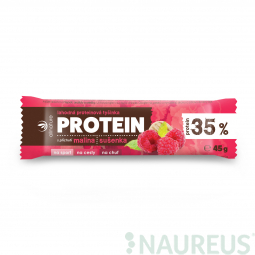 Allnature Proteínová tyčinka 35% malina a sušienka 45 g