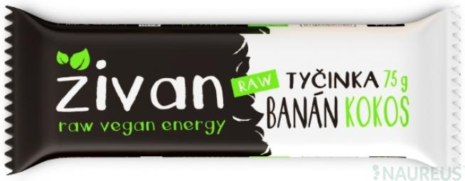 Tyčinka Živan - Banán a kokos