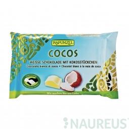 Čokoláda biela s kokosom BIO 100 g Rapunzel *