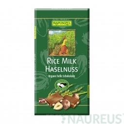 Čokoláda ryžová s kúskami orieškov BIO 100 g Rapunzel *