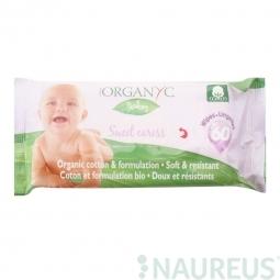 Detské čistiace obrúsky 60 ks BIO bavlna ORGANYC