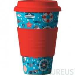 Eco Bamboo Cup - Sea Red (viac) - červený