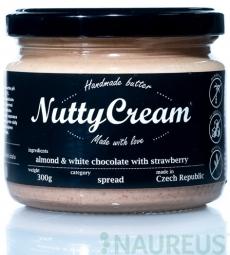 NuttyCream Mandle & biela čokoláda s jahodami