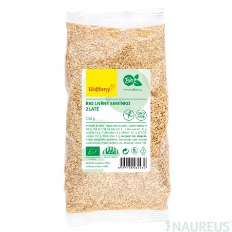Ľanové semienko zlaté BIO 500 g Wolfberry *