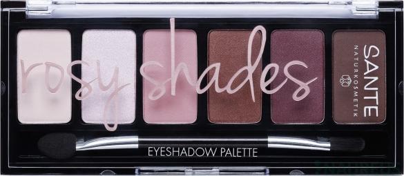 Minerálne očné tiene Palette rosy shades 6 g