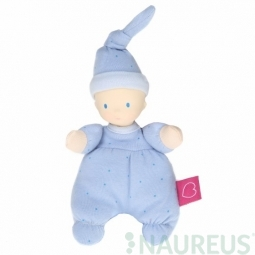 Mini bábika miláčik 15 cm - Modrá
