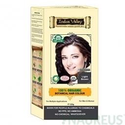 100% Rastlinná, 100% Organická farba na vlasy Svetlohnedá