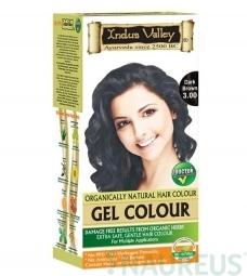 Gélová farba na vlasy Tmavohnedá 3.0