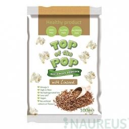 Popcorn ochutený ľanovými semienkami