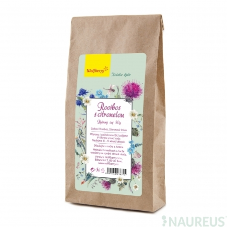 Rooibos s citronelou bylinný čaj 50g Wolfberry