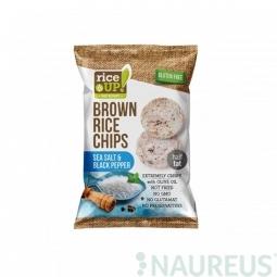 Ryžové chipsy morská soľ a korenie 60 g Rice Up