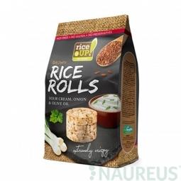 Ryžové minichlebíčky smotana, cibuľa, olivový olej 50 g Rice Up