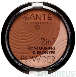2v1 Contouring & Bronzing púder 02 medium-dark 9g