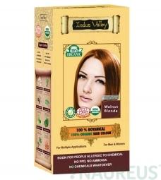 100% Rastlinná, 100% Organická farba na vlasy Oriešková Blond