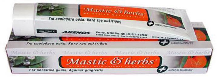 Zubná pasta s mastichovým a mandarínkovým olejom, myrhou a šalviou