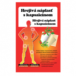 Hrejivá náplasť kapsaicín 12x18 cm