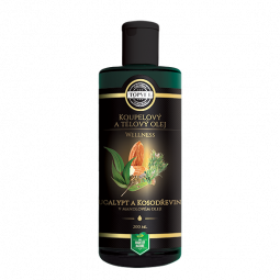 Eucalyptus a kosodrevina v mandľovom oleji 200ml