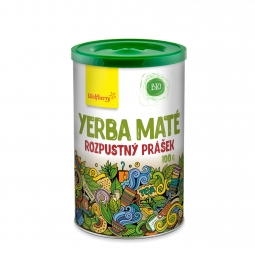 Zelený čaj Yerba maté prášok BIO 100 g Wolfberry
