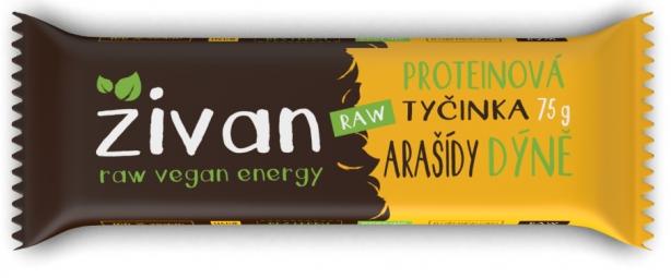 Proteínová tyčinka Živan - Arašidy a tekvice