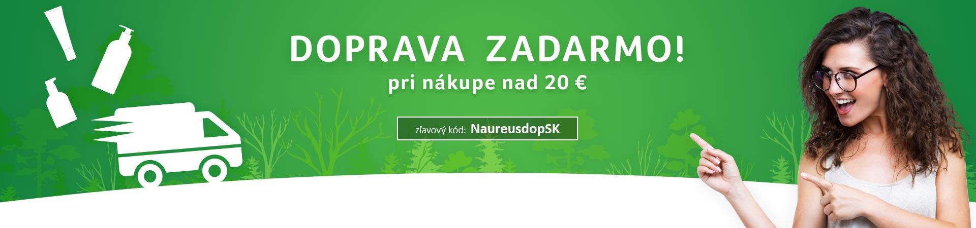 Doprava zadarmo nad 20 eur do 18.08.2019