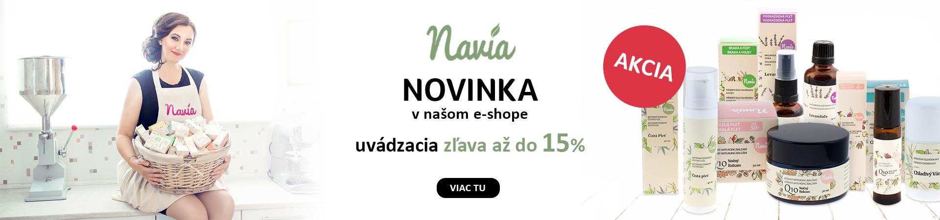 15% zľava na celú značku NAVIA do 30.06.2019